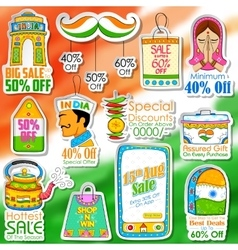 Happy independence day shopping sale vector