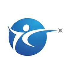 Healthy logo template vector