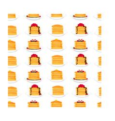 icon logo for yellow pancake vector image