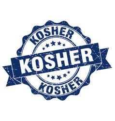 Kosher stamp sign seal vector