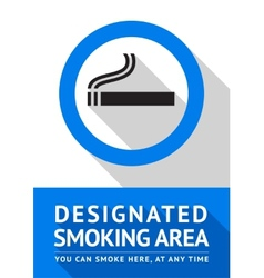 Label smoking area sticker flat design vector image