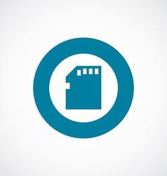 memory card icon bold blue circle border vector image vector image