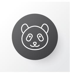 panda icon symbol premium quality isolated bear vector image