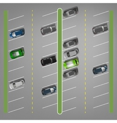 Parking lots vector