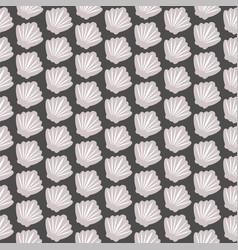seashell seamless pattern on black vector image