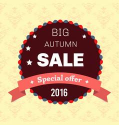 seasonal big autumn sale business background vector image vector image