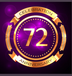 Seventy two years anniversary celebration with vector