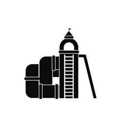 Slide with a roof icon vector