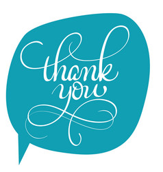 Thank you text on green background vector