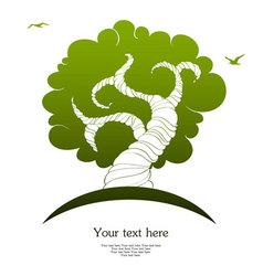 tree back vector image