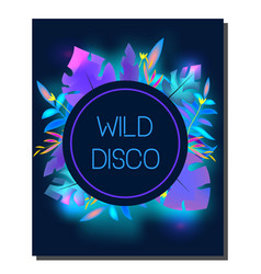 Tropic disco party flyer design template vector