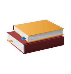 two books in hardcovers lie one on another vector image