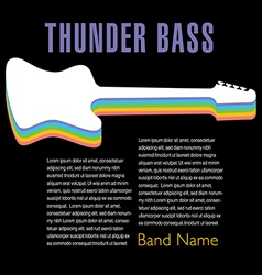 Thunder bass colorful artwork vector