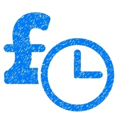 Pound credit grainy texture icon vector