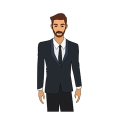 Businessman cartoon icon vector