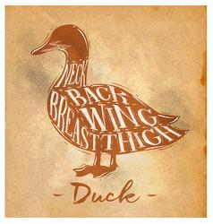 Duck cutting scheme craft vector