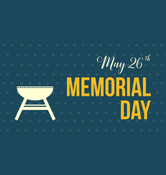 Memorial day event background style vector