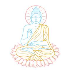 icon buddha purnima vector image