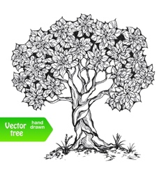 Alone tree vector
