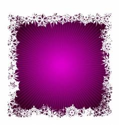 Square purple snowflake background vector