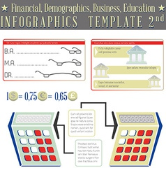 Financial demographics business education vector