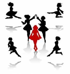 irish dance vector image
