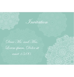Invitation with victorian ornaments beautiful vector