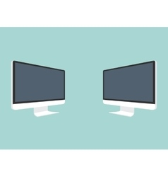 Computer monitor isolated vector