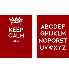 Keep calm empty poster red vector