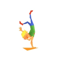 Circus acrobat performing vector