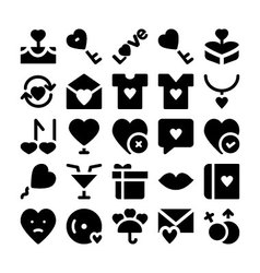 Love and romance icons 8 vector