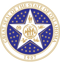 Oklahoma seal vector