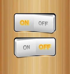 White Realistic Switch vector image