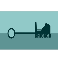 Concept of a key chicago vector