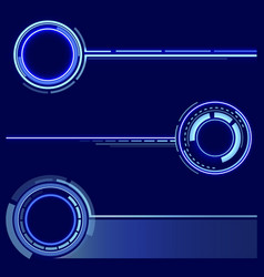 A set of futuristic rings graphic resources for vector