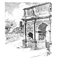 Arch of constantine situated between the vector