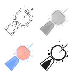 Artificial insemination icon in cartoon style vector