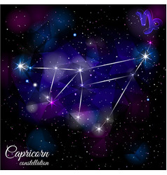 capricorn constellation with triangular background vector image