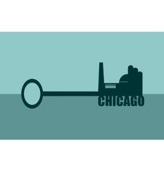 Concept of a key chicago vector