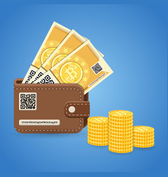Crypto currency bitcoin technology concept vector