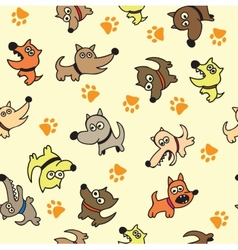 Cute dog seamless background vector image vector image
