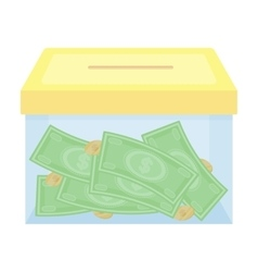 Donation moneybox icon in cartoon style isolated vector