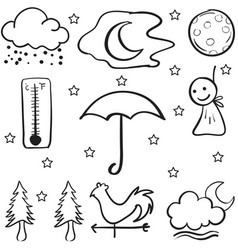 Doodle of weather object collection stock vector