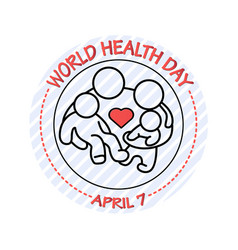 Family icon world health vector