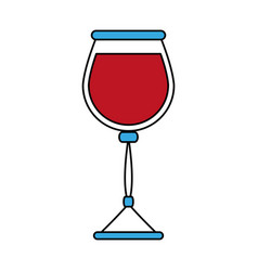 glass of wine icon image vector image vector image