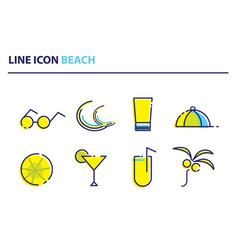 icon beach1 vector image