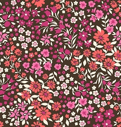 Little ditsy flowers - seamless background vector image