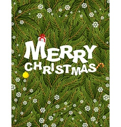Merry Christmas Congratulatory postcardposter for vector image