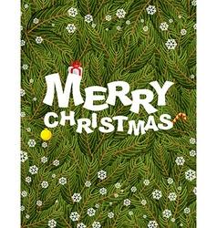 Merry Christmas Congratulatory postcardposter for vector image vector image