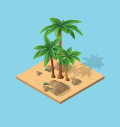 natural desert landscape vector image vector image